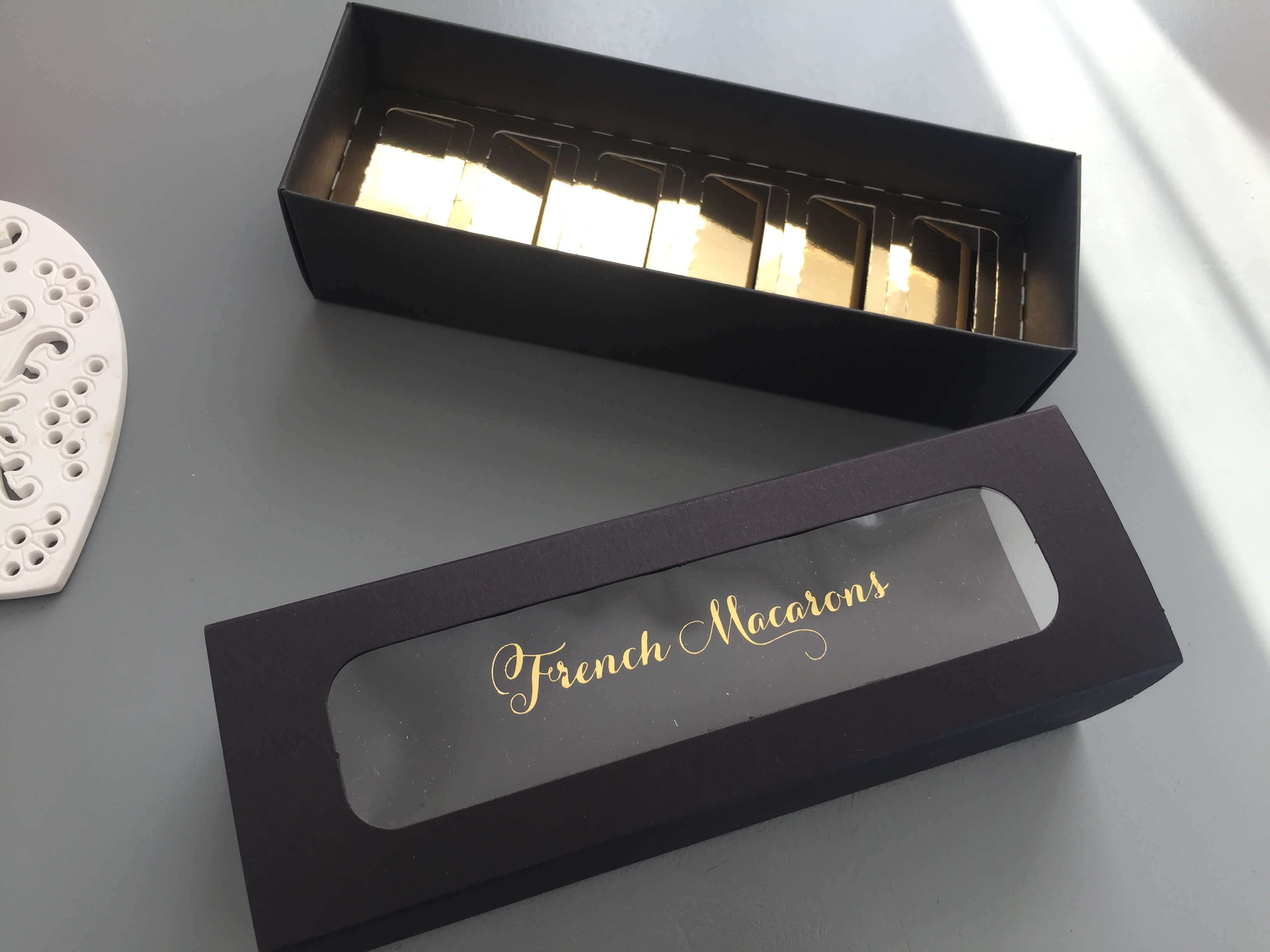 6 Pack Macaron Box with Foiled Window