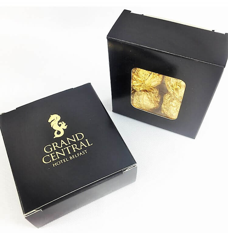 Foiled 4 Pack Chocolate Box