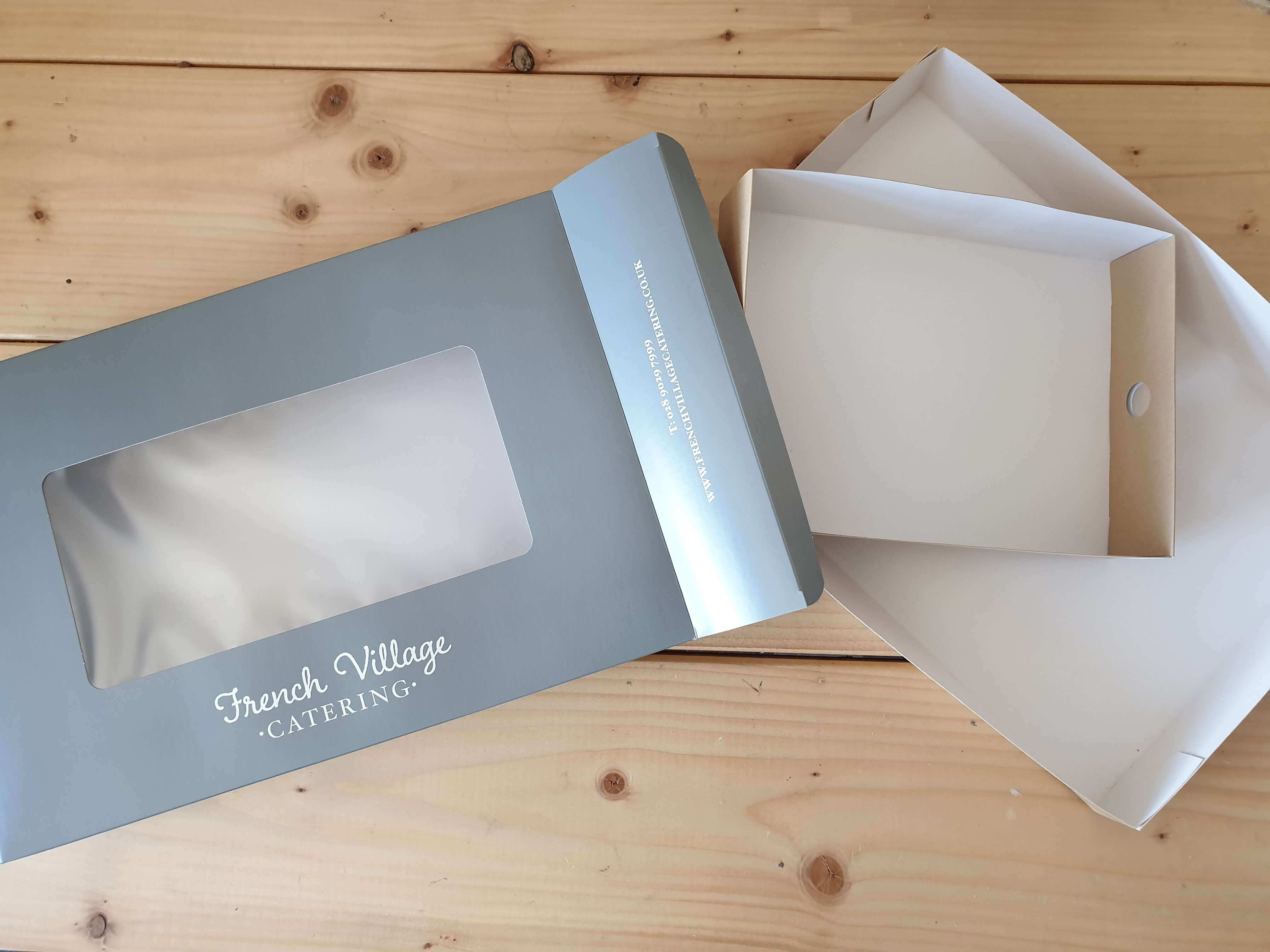 Branded Print Windowed Large Platter Box with Full Tray, Half Tray also available