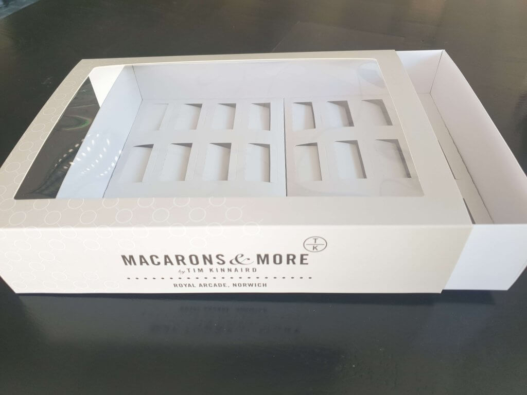 Branded Print 24 Pack Macaron Box with insert