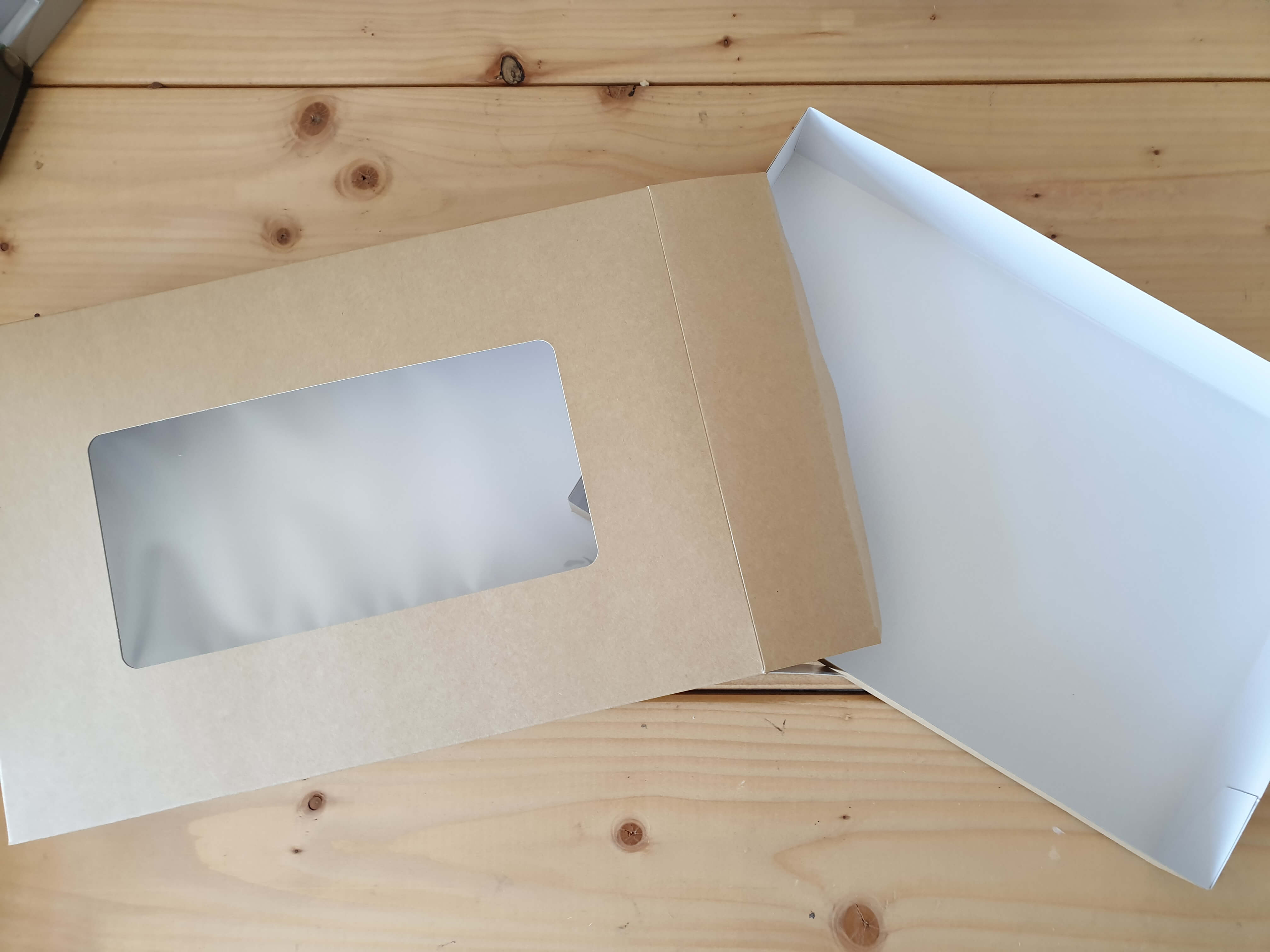 Kraft Windowed Large Platter Box with Full Tray, Half Tray also available