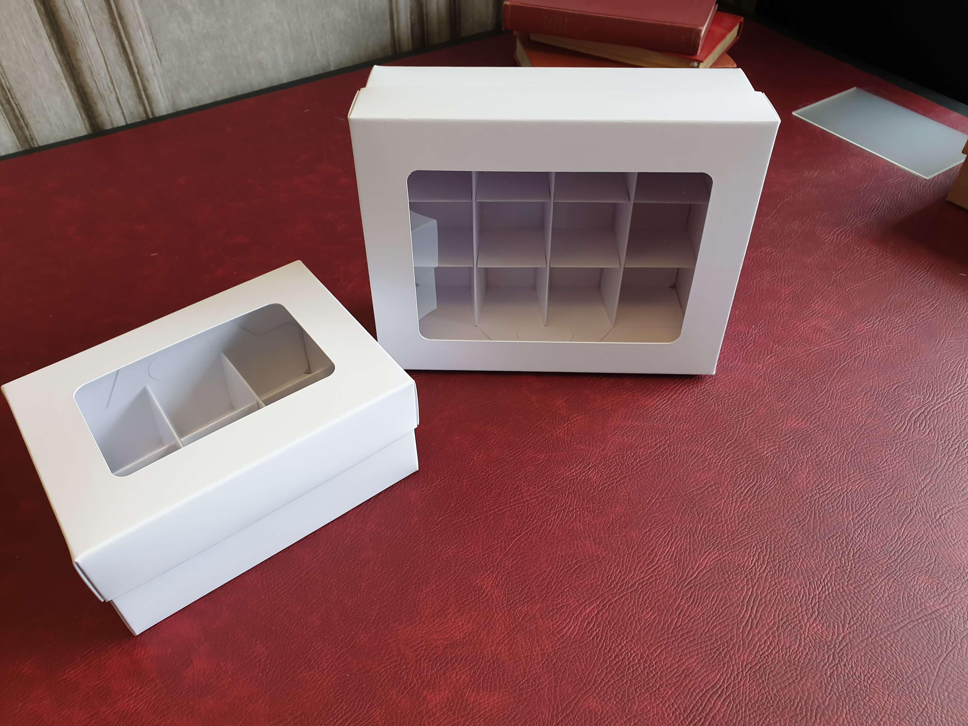 Base & Lid 6 & 12 Pack Mini Cupcake / Cake Boxes