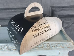 The Tides Newbridge Restaurant Patisserie Take away box