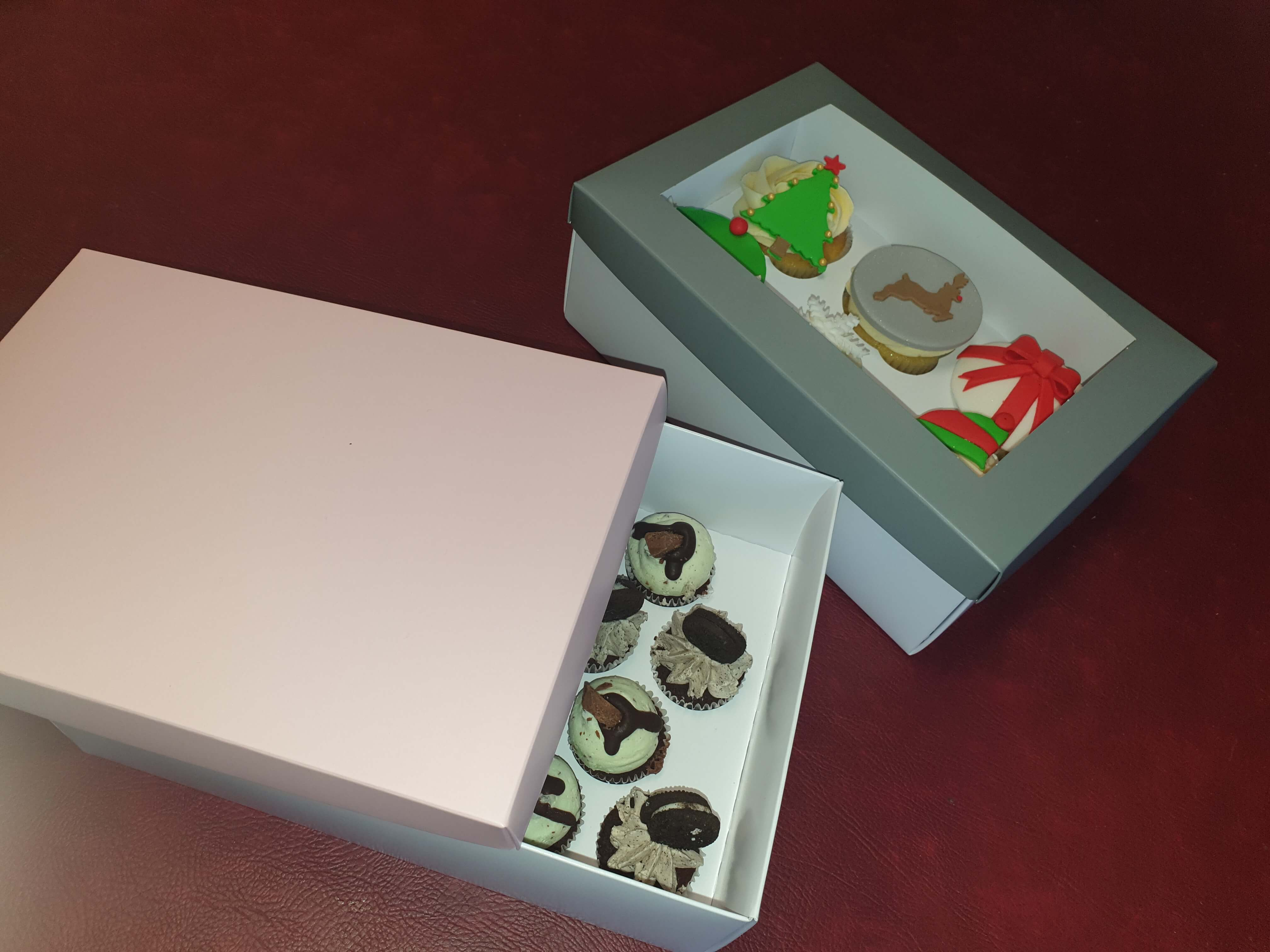 Cup Cake Base & Lid Box insert available for 6 regular or 18 mini's