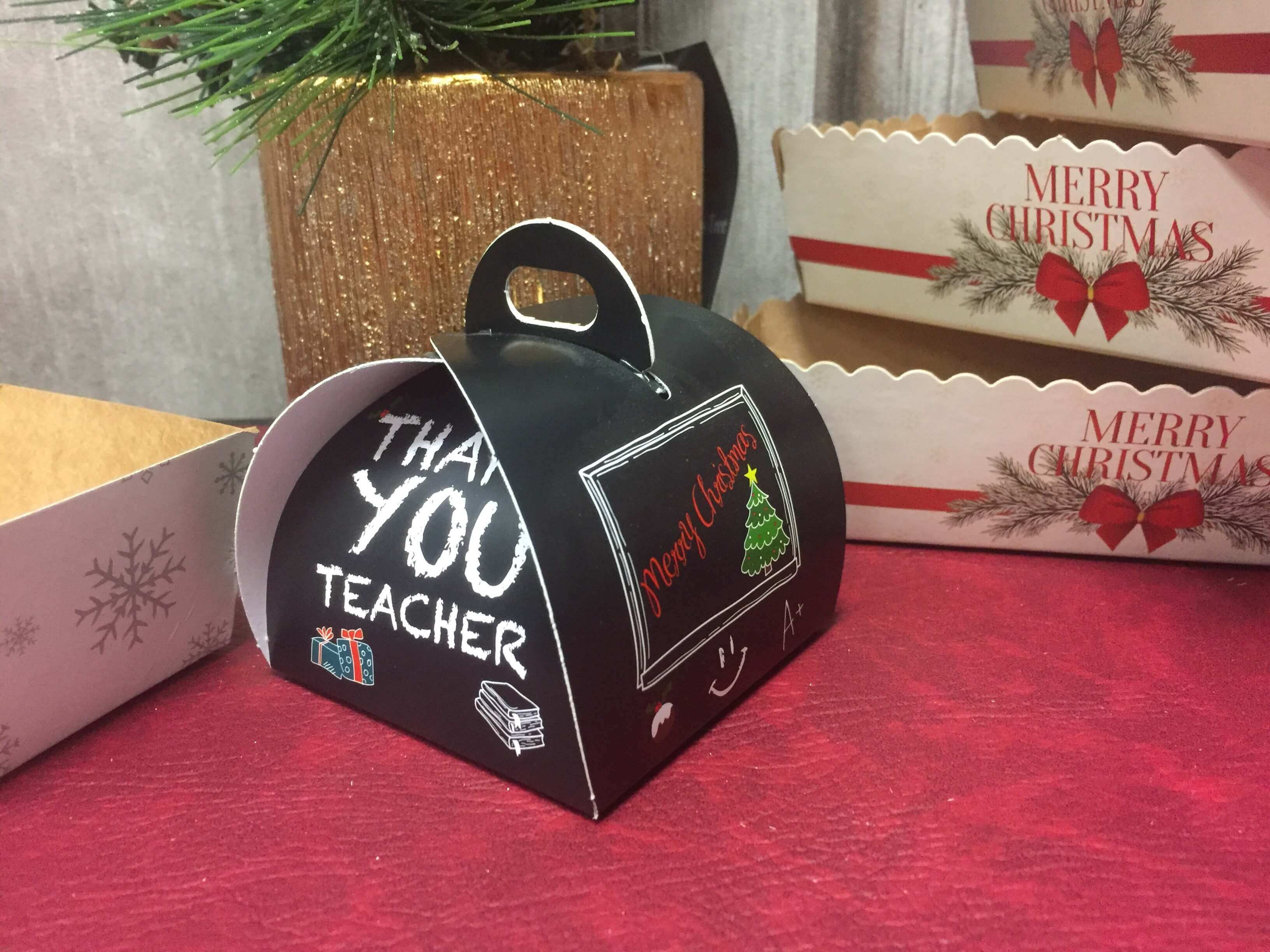 Thank you Teacher Christmas Patisserie Box