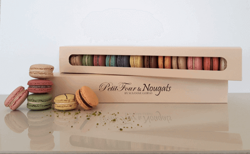 12 Pack Macaron Box with Branded Sleeve
