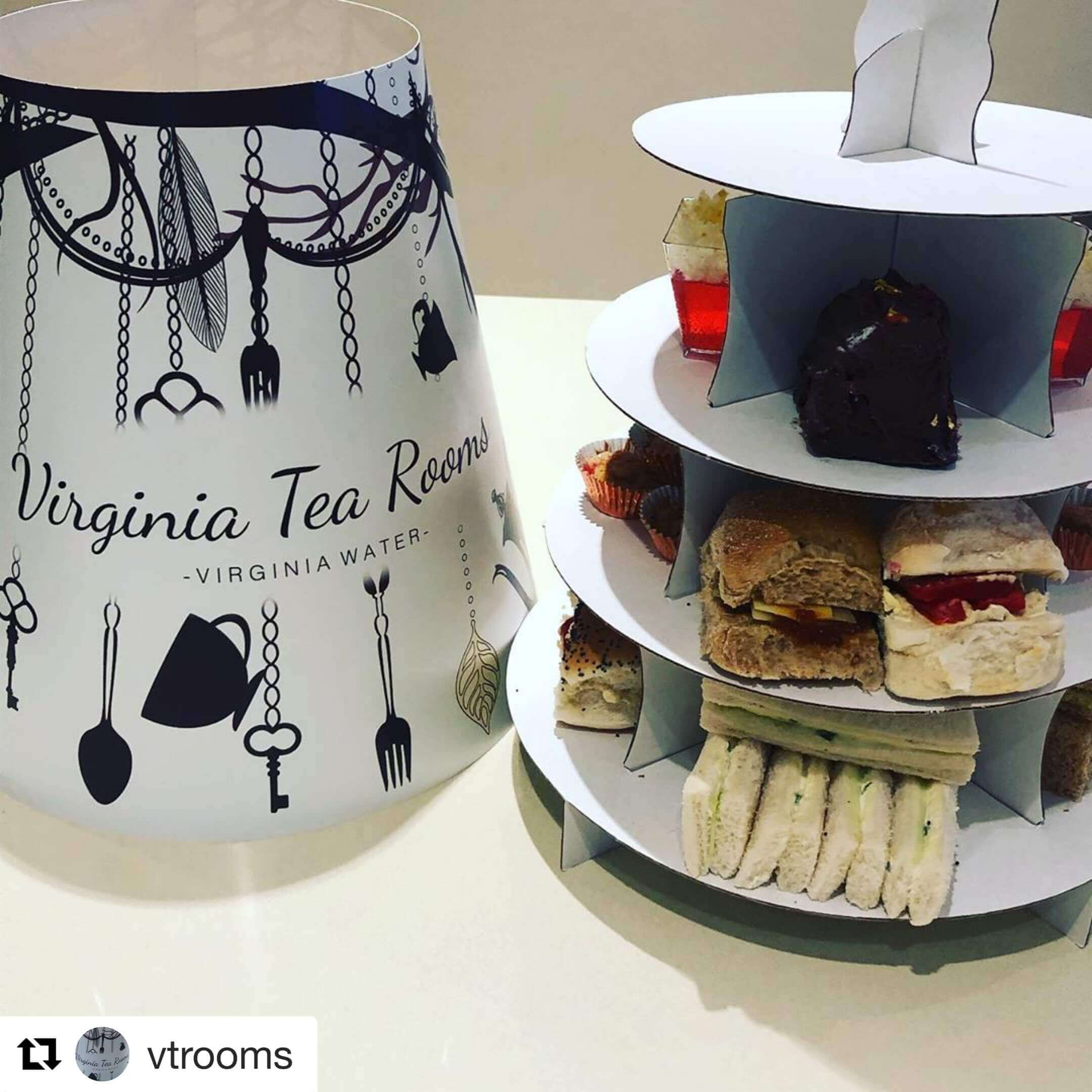 Branded Hood for Afternoon Tea 4 Tier Cake Stand Take Home Caddy