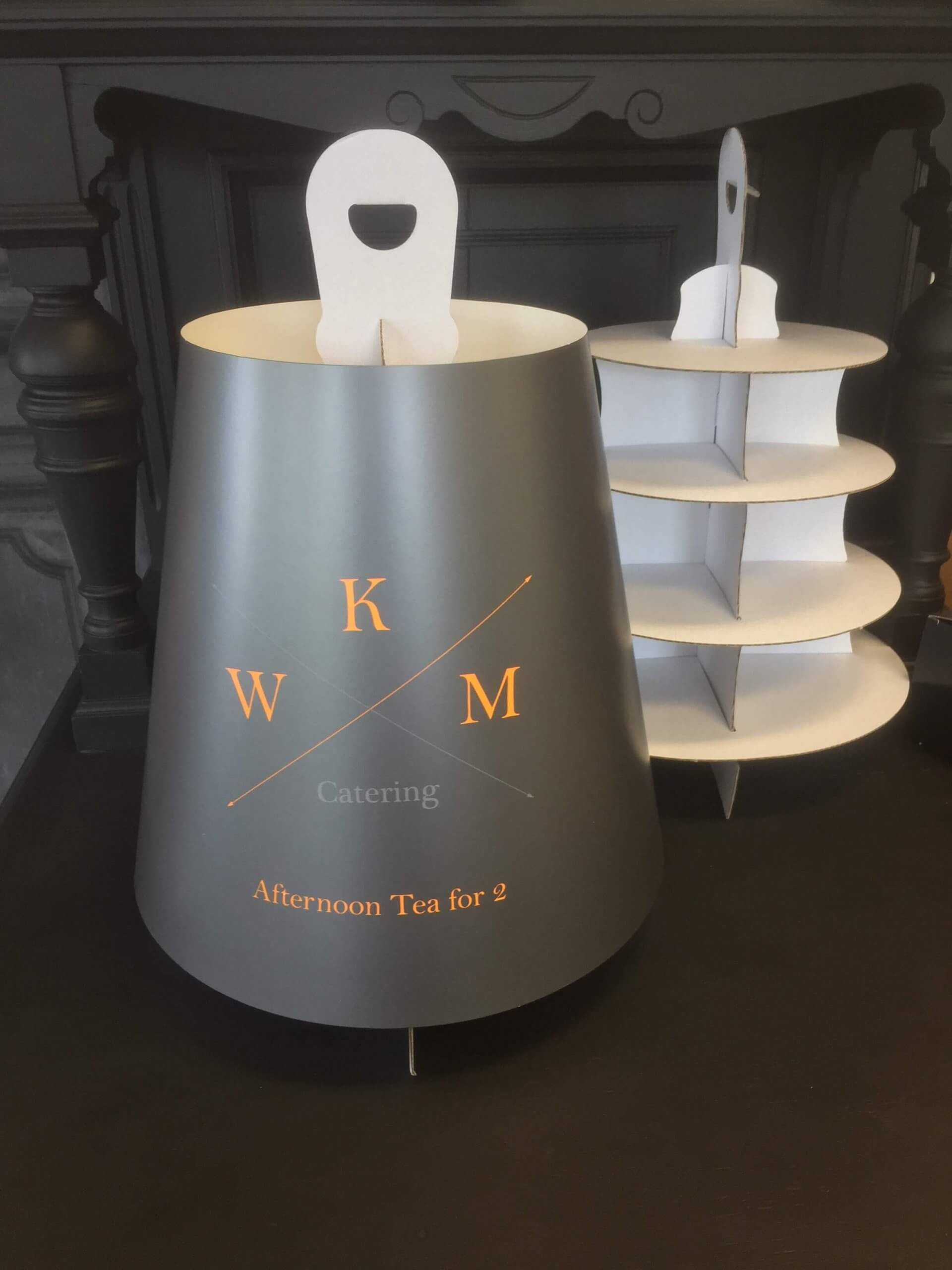 Branded Print 4 Tier Afternoon Tea Stand