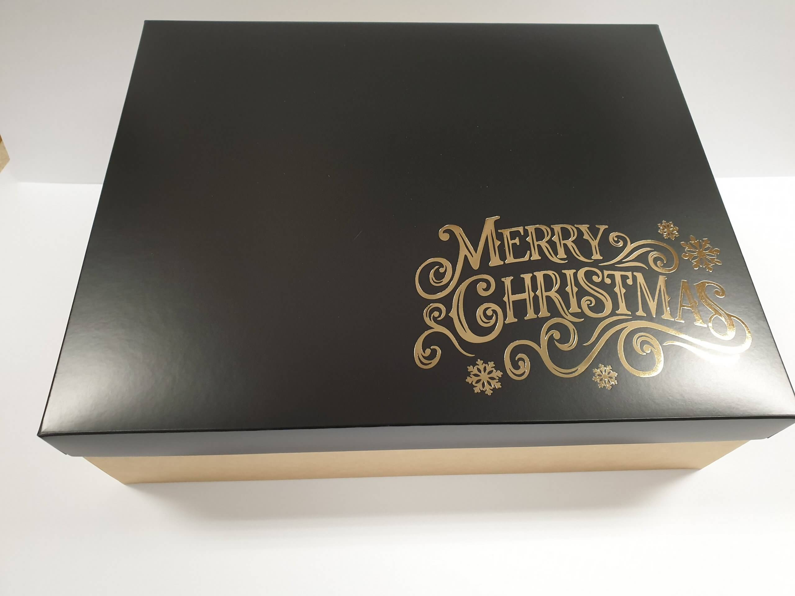 Christmas Foiled Hamper Box