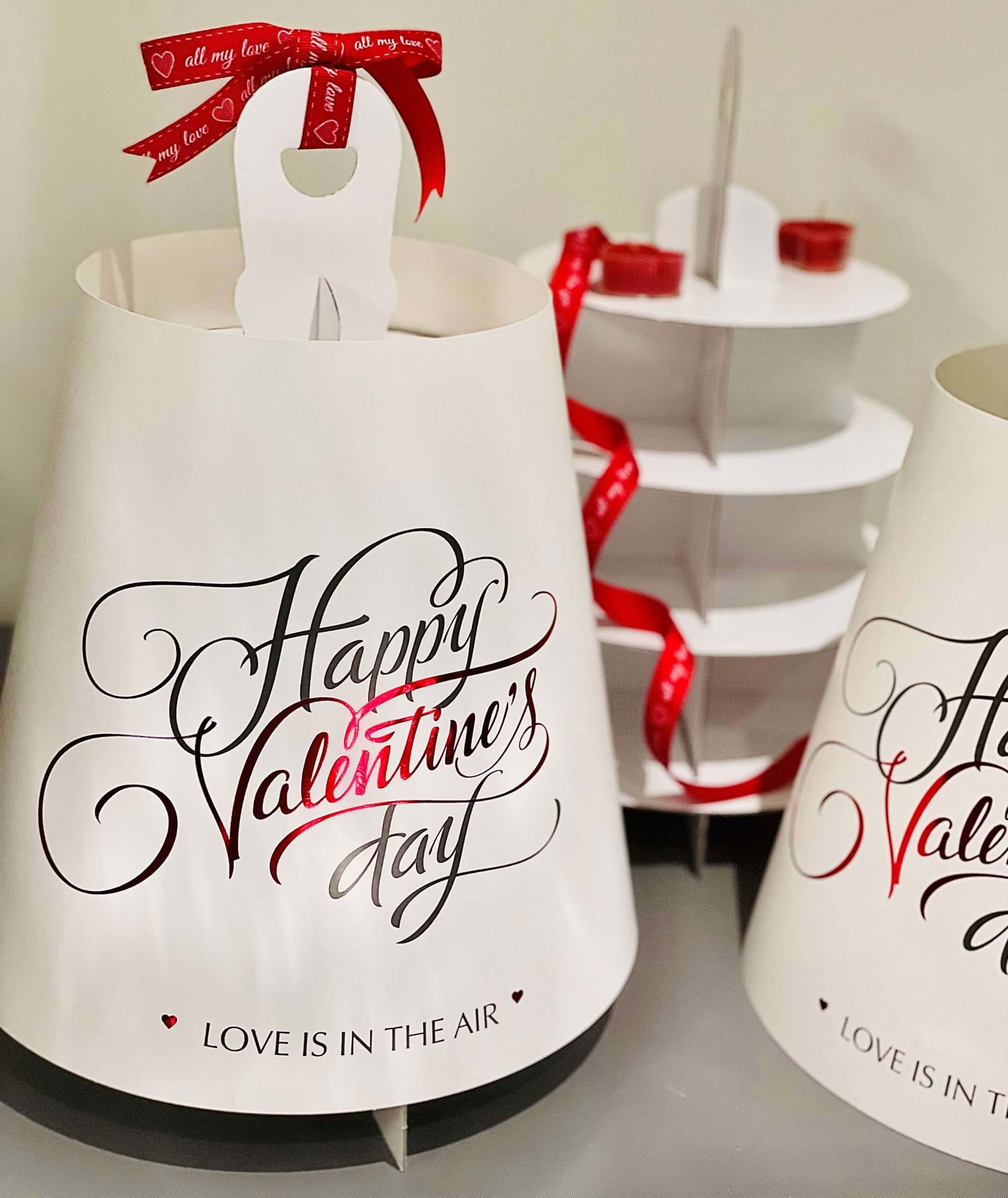 Happy Valentine's Day 4 Tier Print & Foiled Caddy