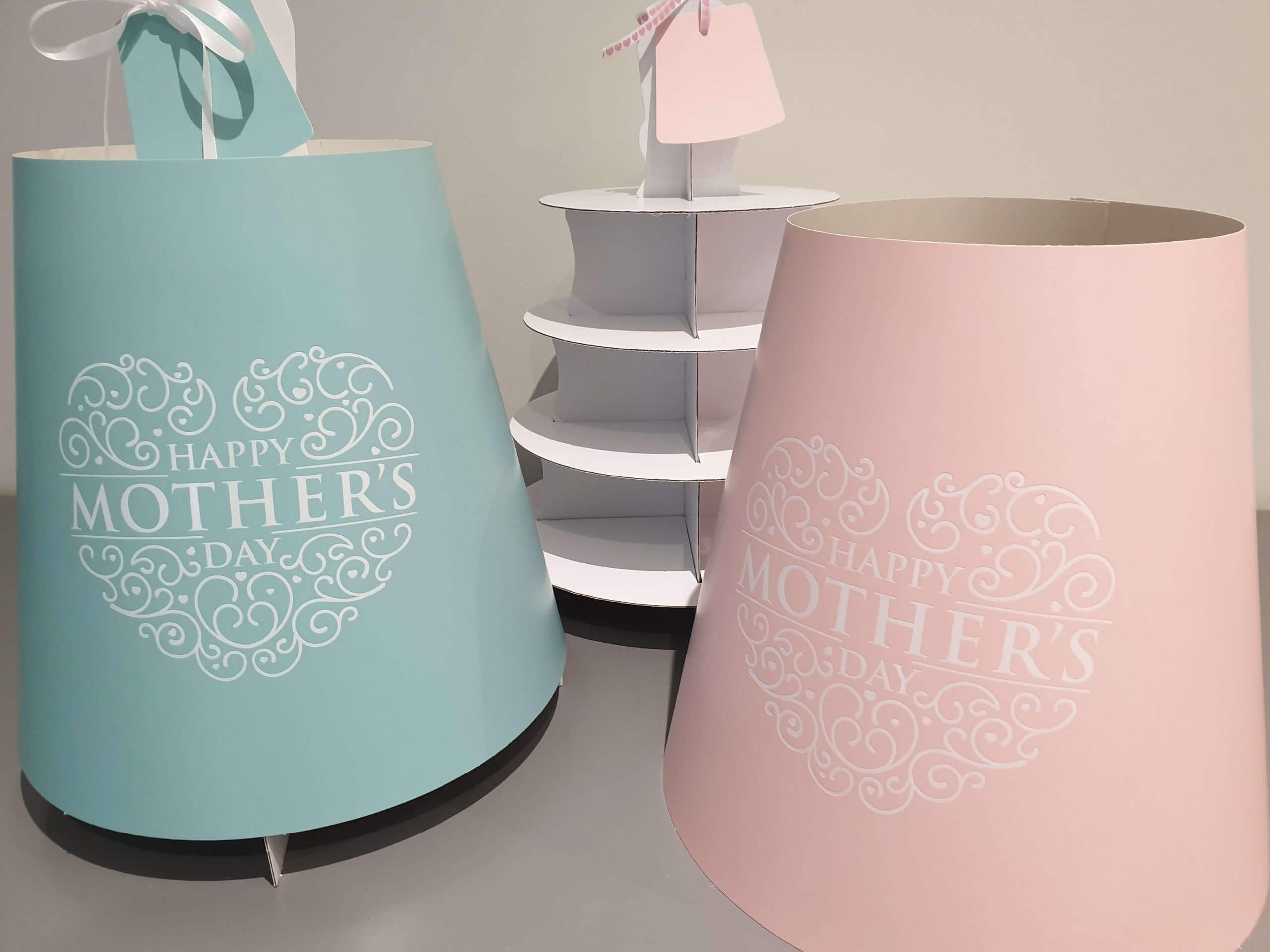 Mothers Day Print & Hot Foiled 4 Tier Afternoon Tea Caddy