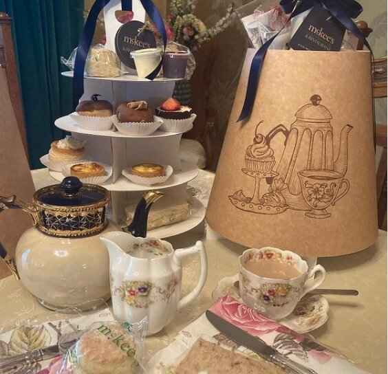 Branded Print 4 Tier Afternoon Tea Caddy's for McKees Country Store