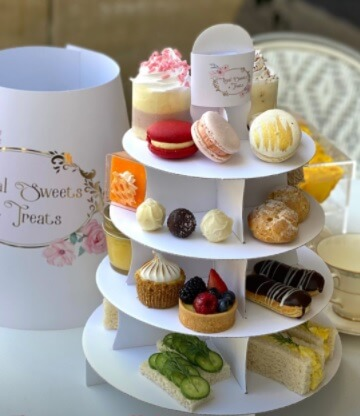 Brand Print & Foiled Afternoon Tea Cake Stand / Caddy